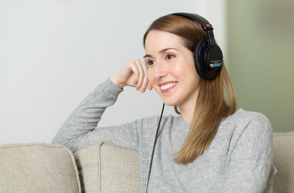 Lady with a headset