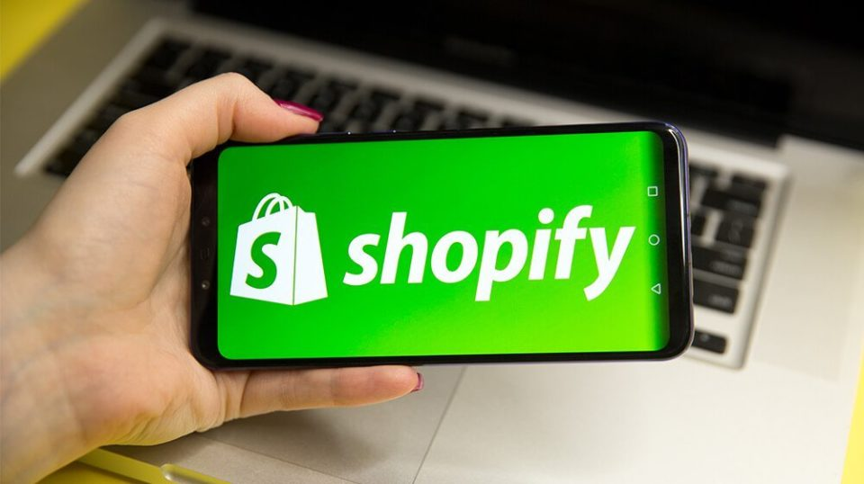 Shopify on mobile phone