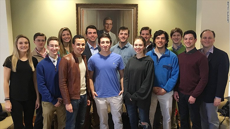 members of Lafayette College Investing Club