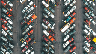 Parking lot seen from above