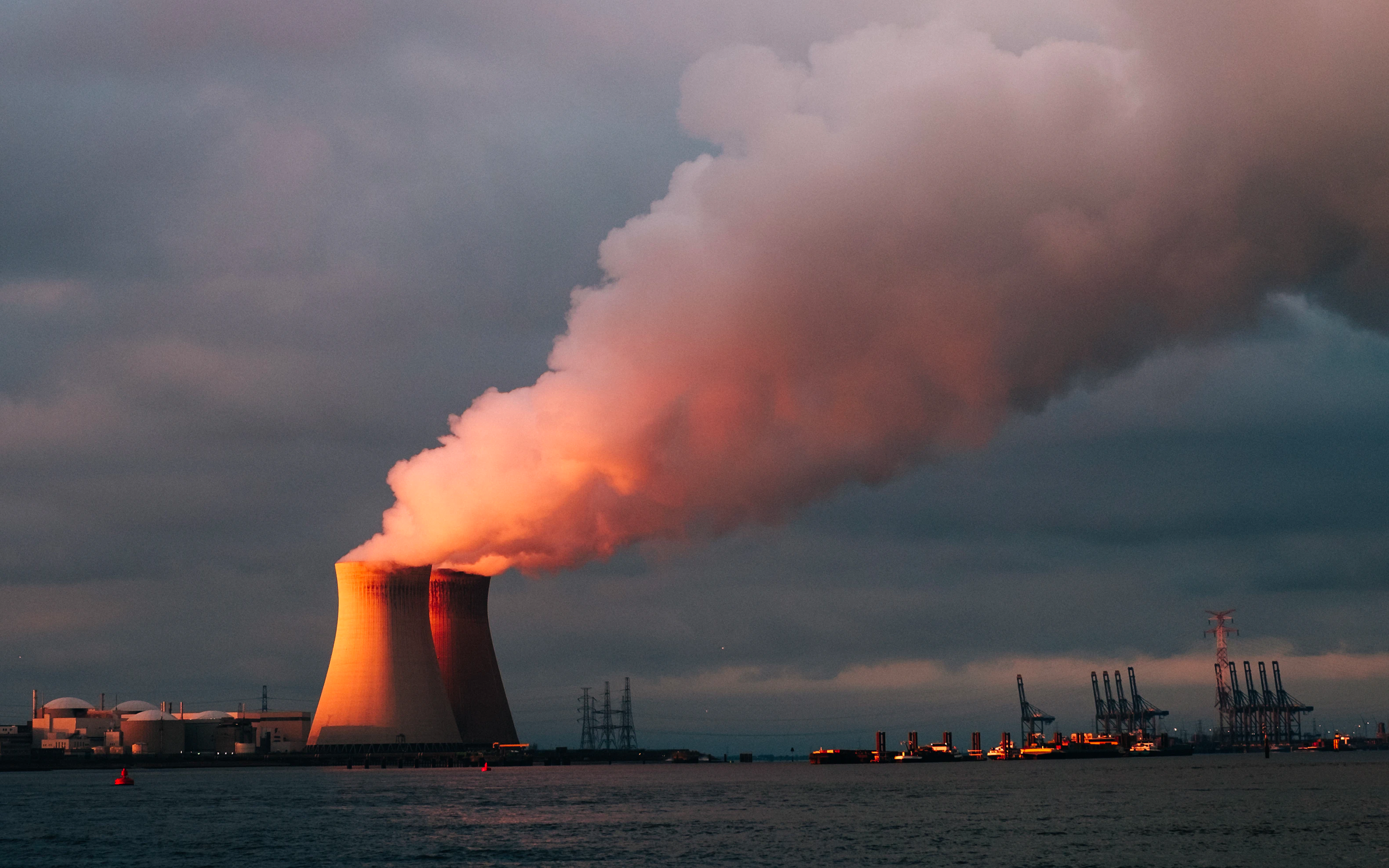 Nuclear reactors in action.