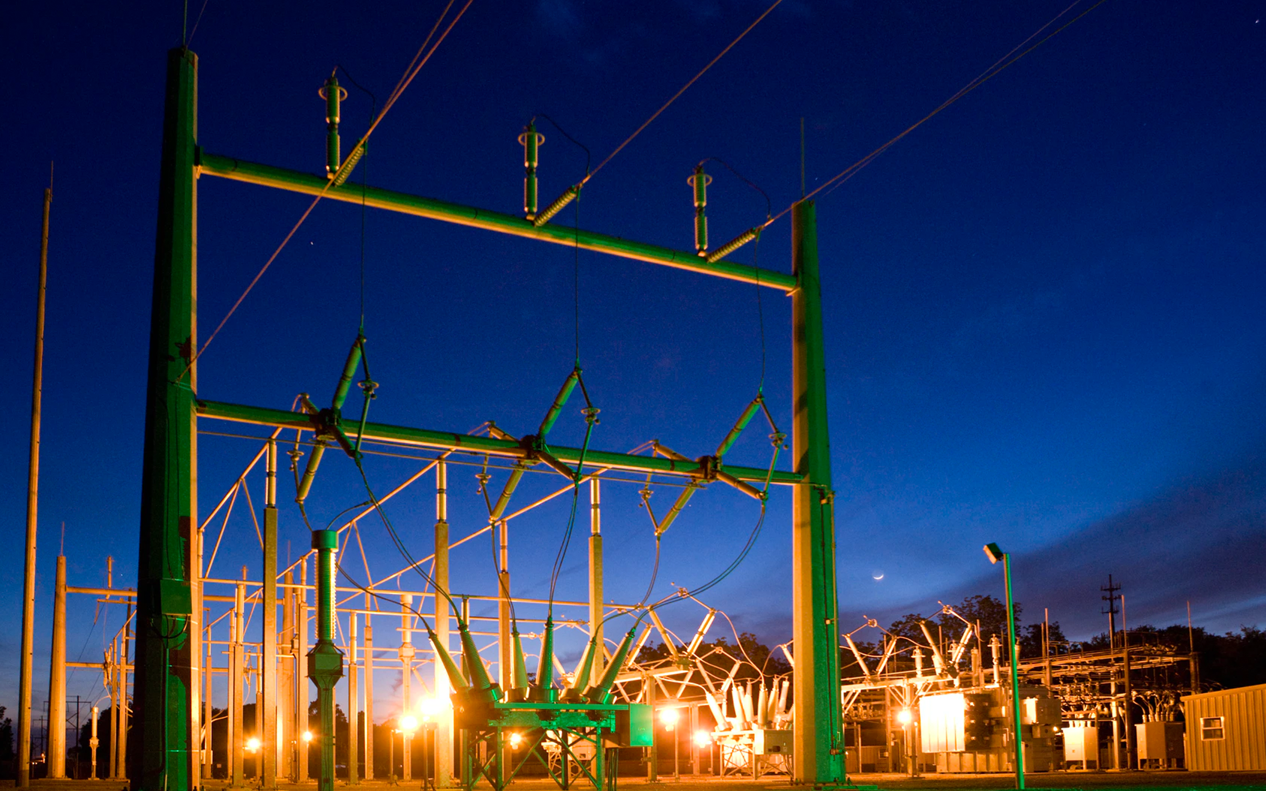 Substation in operation.