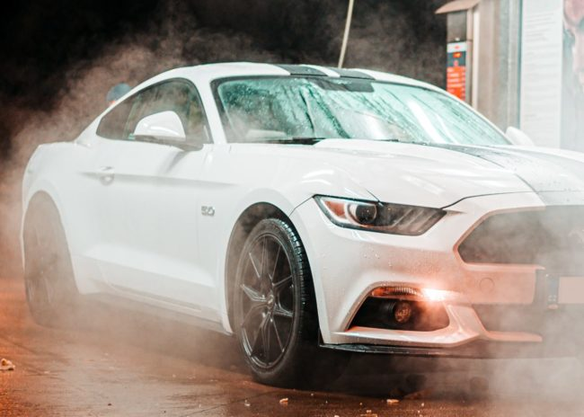 Ford Mustang being washed